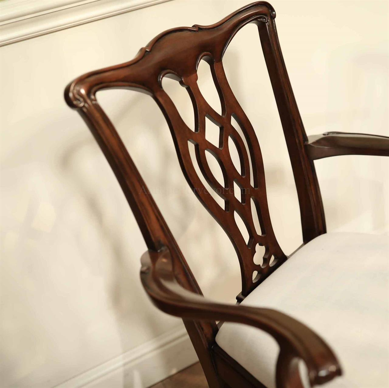 Chippendale Mahogany Dining Room Chairs: Mahogany Dining Chairs, Straight Leg Chippendale Chairs