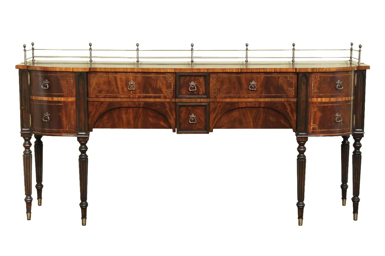 large antique reproduction sideboard