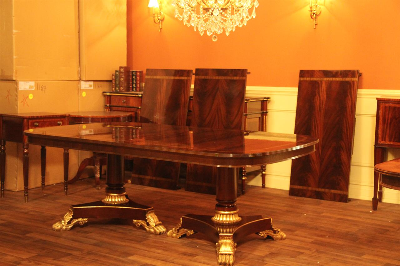 Wide dining room tables