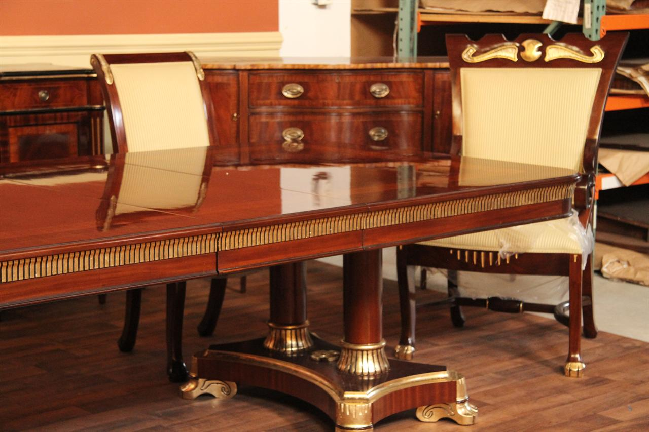 10 to 22 foot extra large mahogany dining table long banquet table ebay. Black Bedroom Furniture Sets. Home Design Ideas