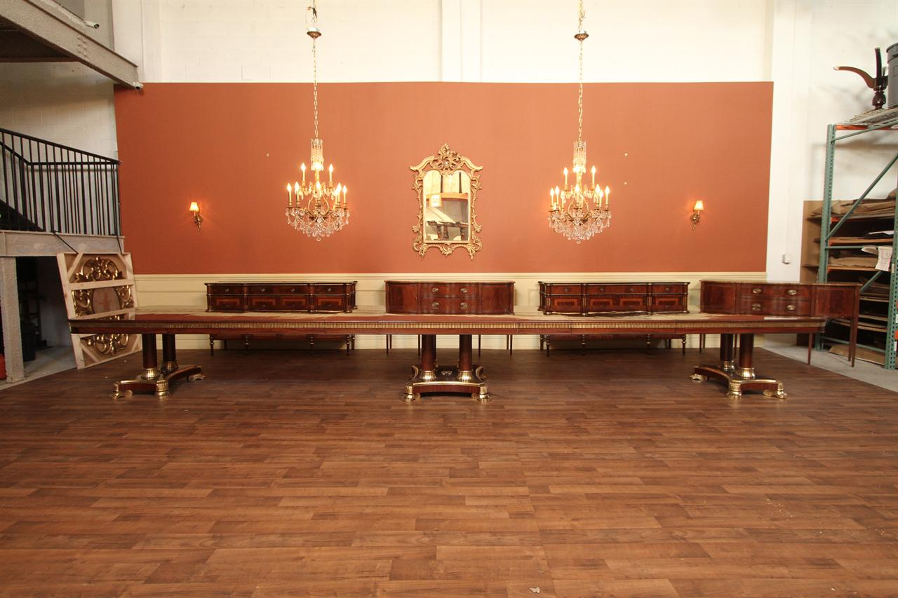 Extra Large Dining Room Table Fully Extended In Bright Light