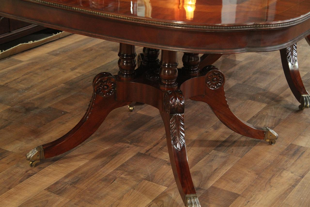 reproduction dining tables. reproduction dining table with birdcage pedestals. pedestal option shown here tables