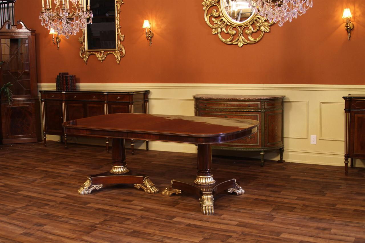 French Empire Double Pedestal Dining Table