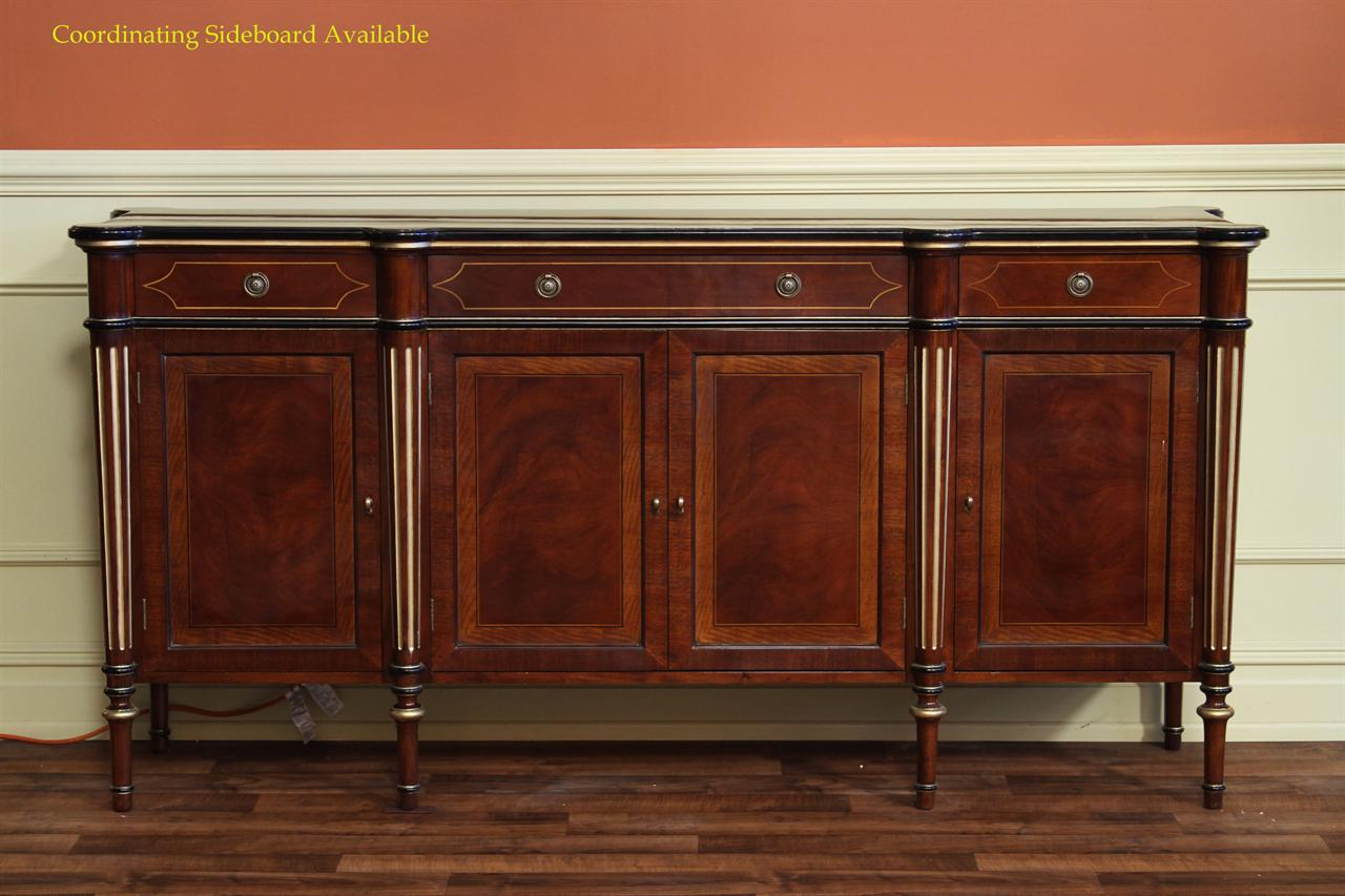 Coordinating Reproduction Antique Furniture, Model AP Z SB 043 Sideboard  Shown Here