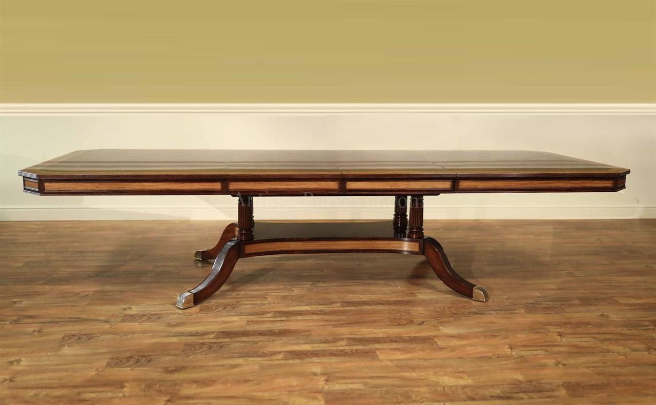 Large Mahogany Dining Table With Self Storing Leaves - Conference table with leaves