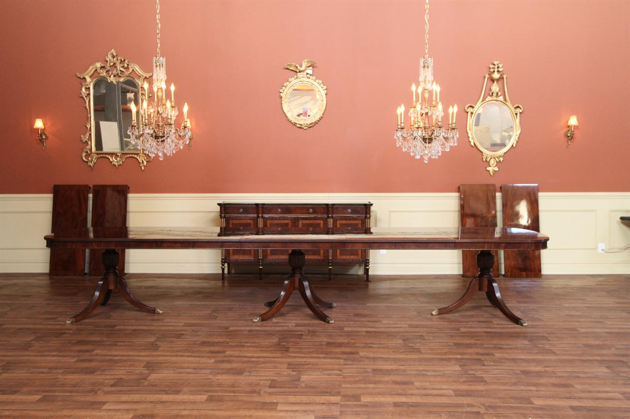 Expandable Dining Table Shown Here With Two 36 Inch Leaves In Place And At  15 Feet Long.