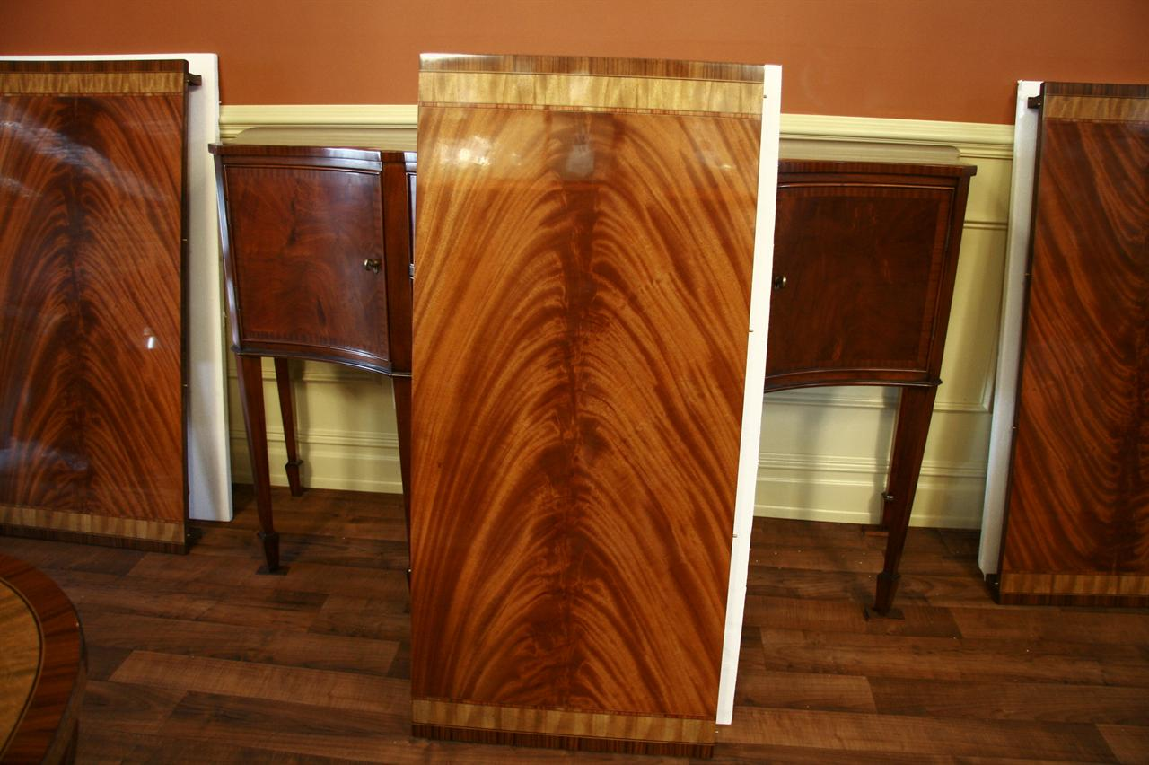 Mahogany Dining Table Leaf Standing On End In Our Studio