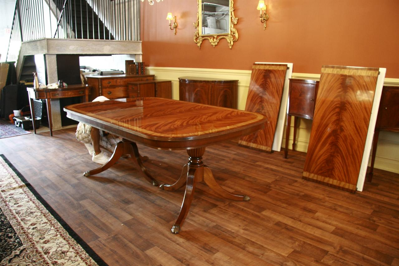 large high end mahogany dining table seats 12-14