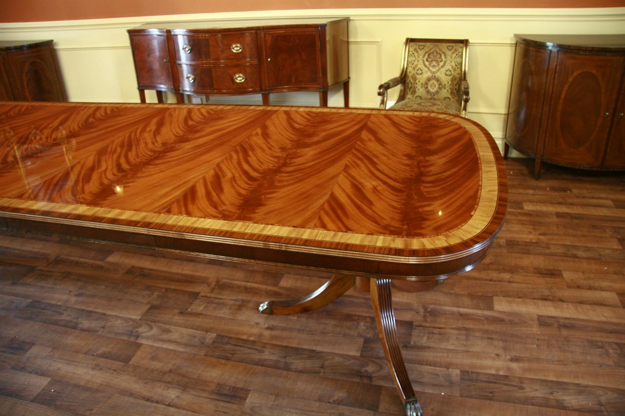 Large High End Mahogany Dining Table Seats 12 14