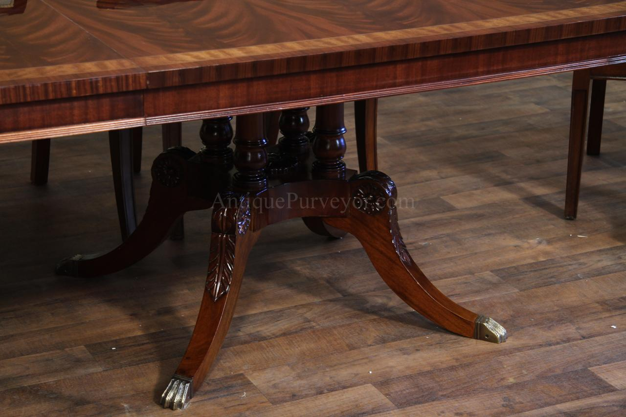 high end extra large & long mahogany dining table seats 12-16