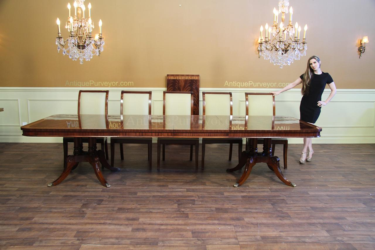 Long Dining Table With Leaves Seats 10 To16 Persons