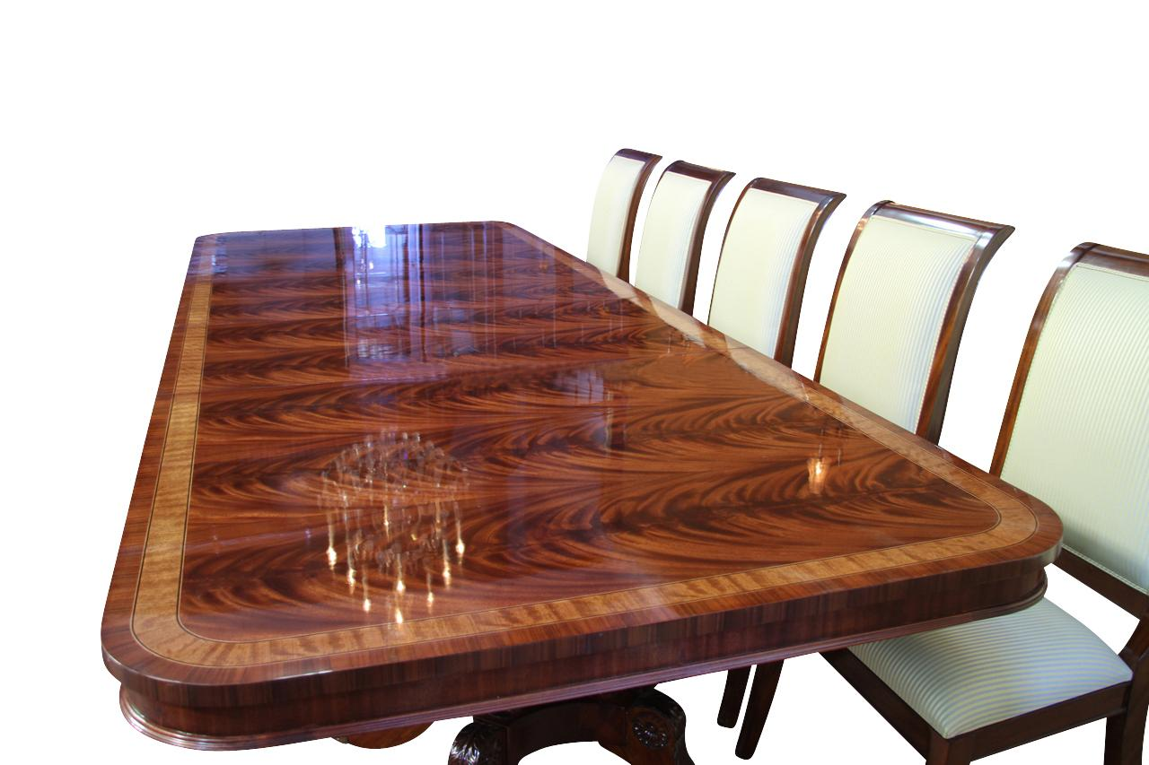 High end extra large long mahogany dining table seats 12 16 people ebay for 12 seat dining table