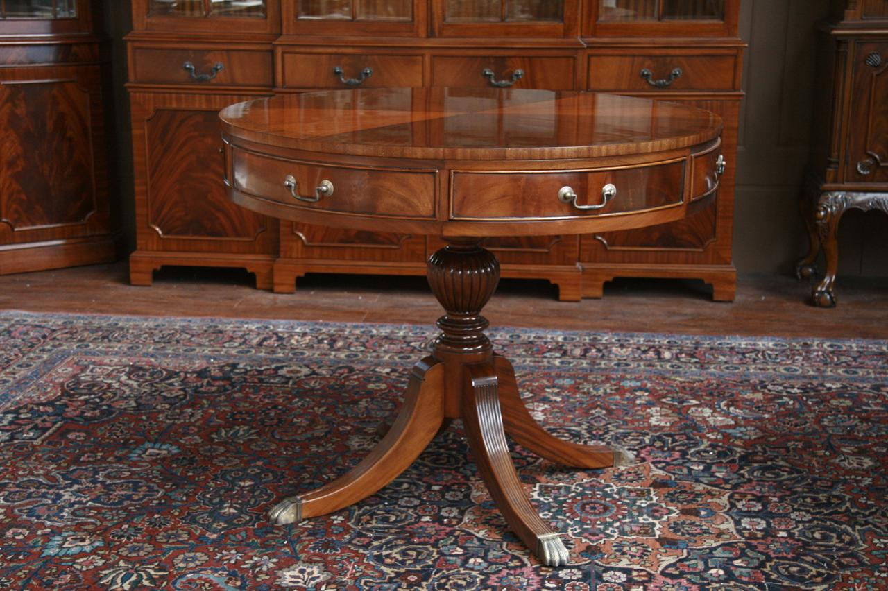 Mahogany Drum Table Duncan Phyfe Drum Table With Drawers