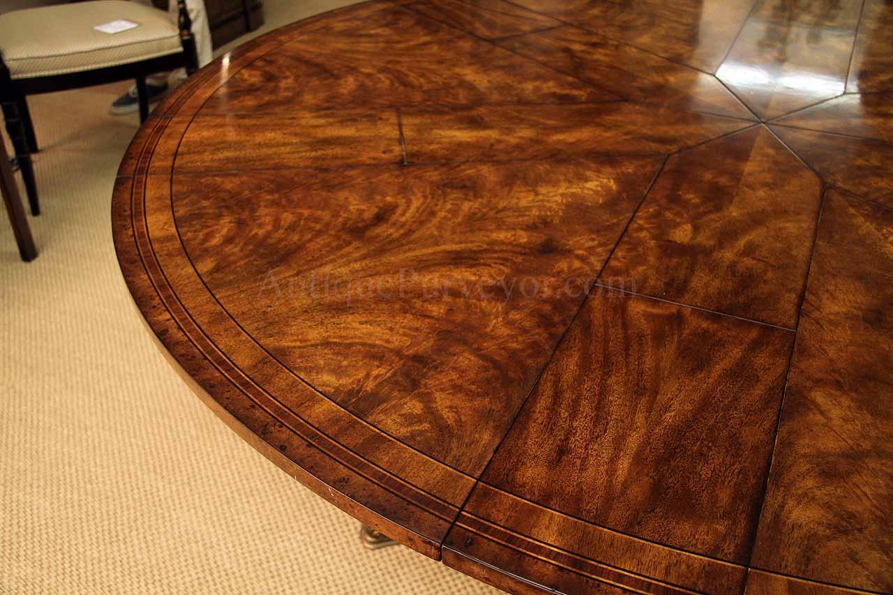 Round Mahogany Jupe Table For Sale Large Round Expanding