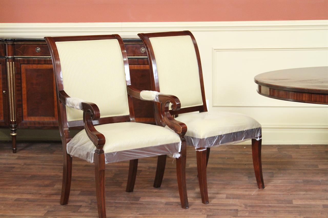 Mahogany Regency Style Chairs | Solid Mahogany Frames