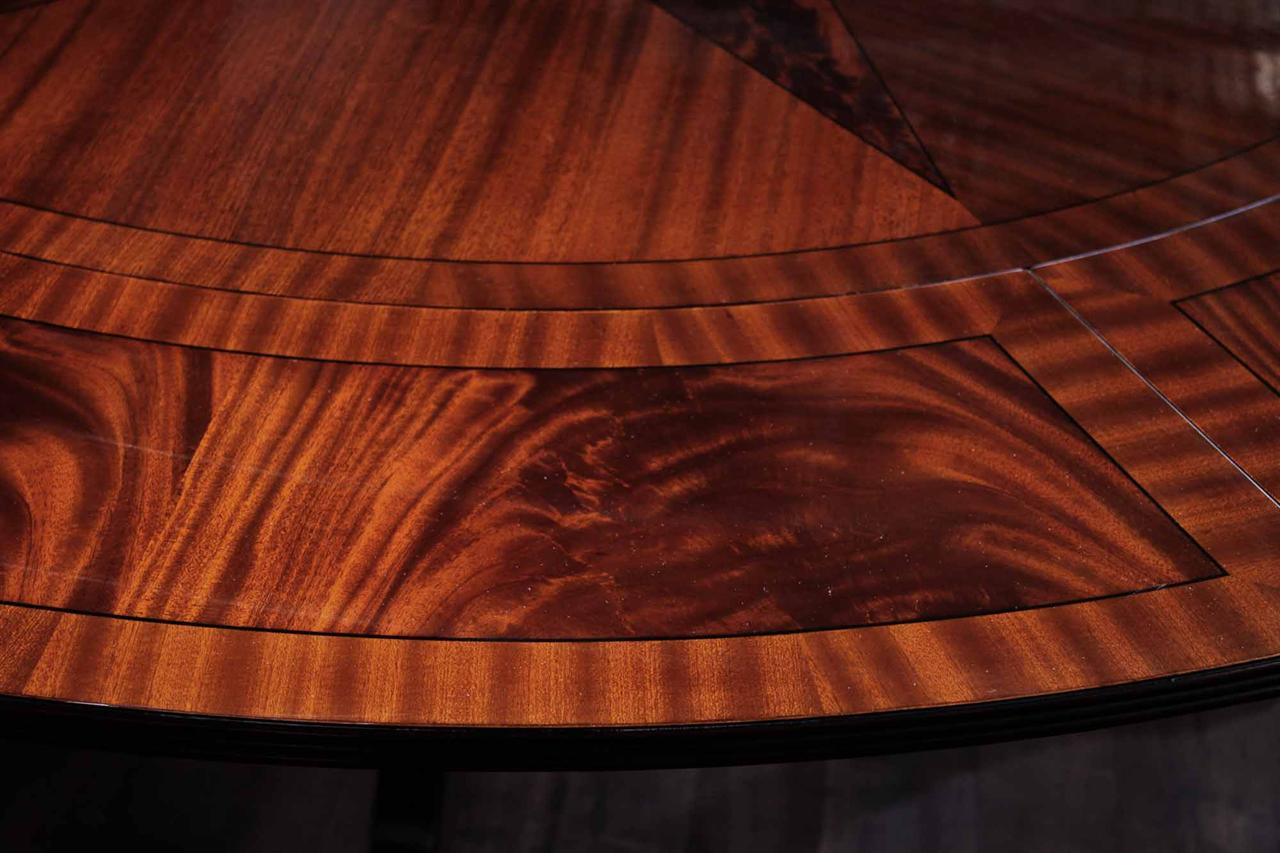Large Round Mahogany Dining Table W Leaves Perimeter eBay : mahogany round dining table with perimeter leaves oversized 84 round 8254 from www.ebay.com.sg size 1280 x 853 jpeg 117kB