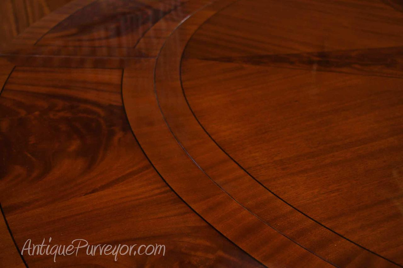 Large Round Mahogany Dining Table w Leaves Perimeter eBay : mahogany round dining table with perimeter leaves oversized 84 round 8257 from www.ebay.com.au size 1280 x 853 jpeg 75kB