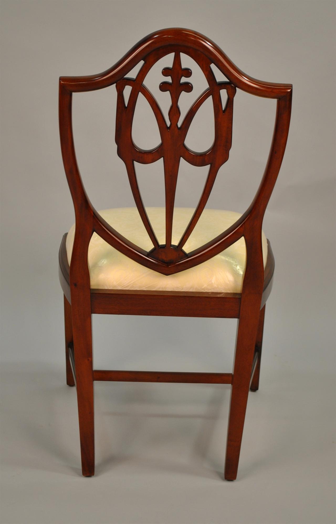 Mahogany Shield Back Dining Chairs Fleur De Lis Shield  : mahogany shield back dining chairs fleur de lis shield back 4434 from www.ebay.co.uk size 1280 x 1997 jpeg 127kB