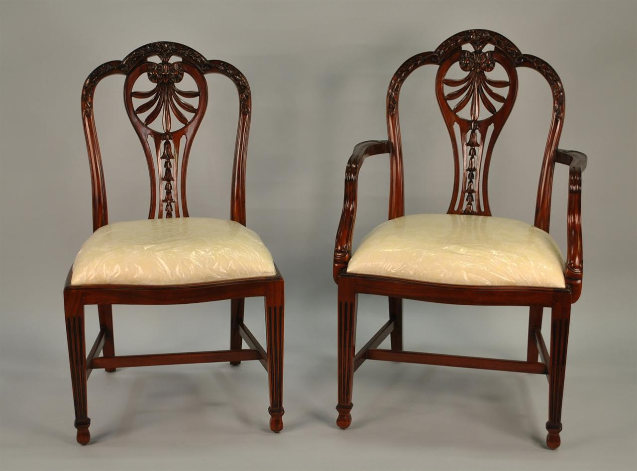 Mahogany Shield Back Dining Chairs | Harrisburg Shield Back Chairs