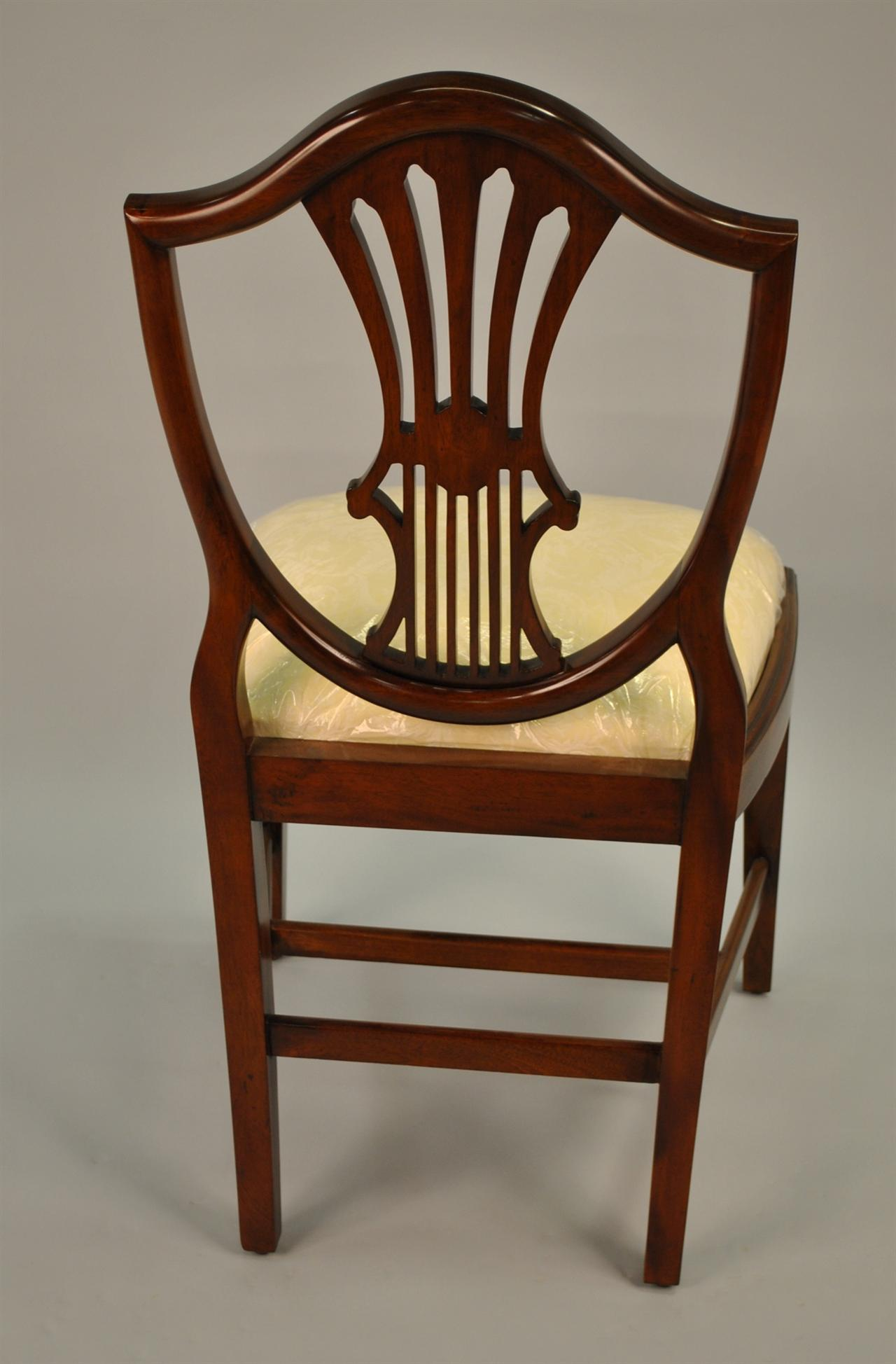 Small Vintage Size Shield Back Dining Room Chairs Solid ...