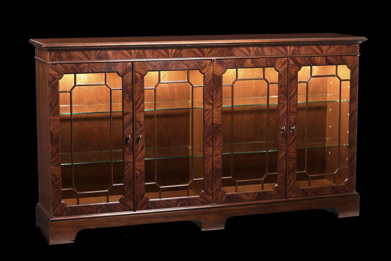 Mahogany sideboard display cabinet paned glass doors for Dining room display cabinets