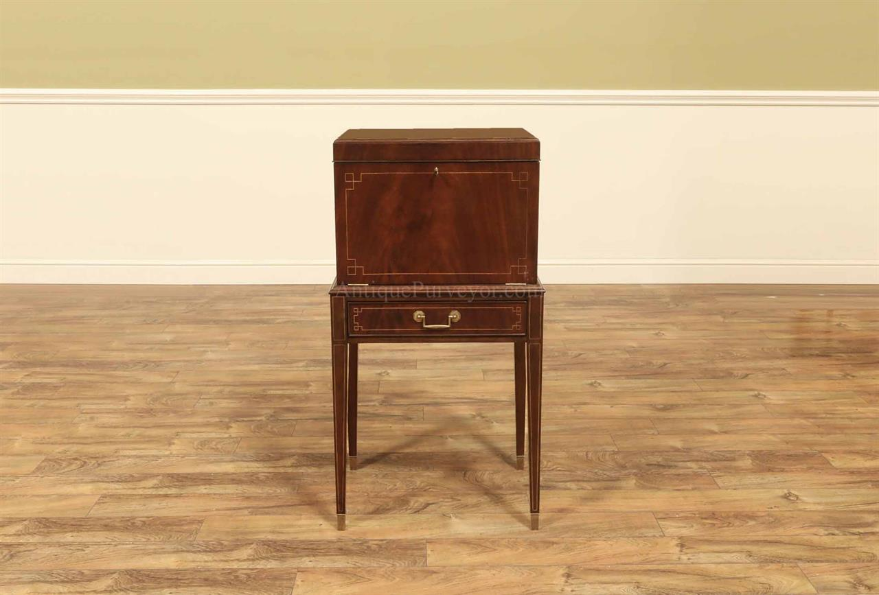 Mahogany Silver Chest on Legs ~ Flatware Chest on Base