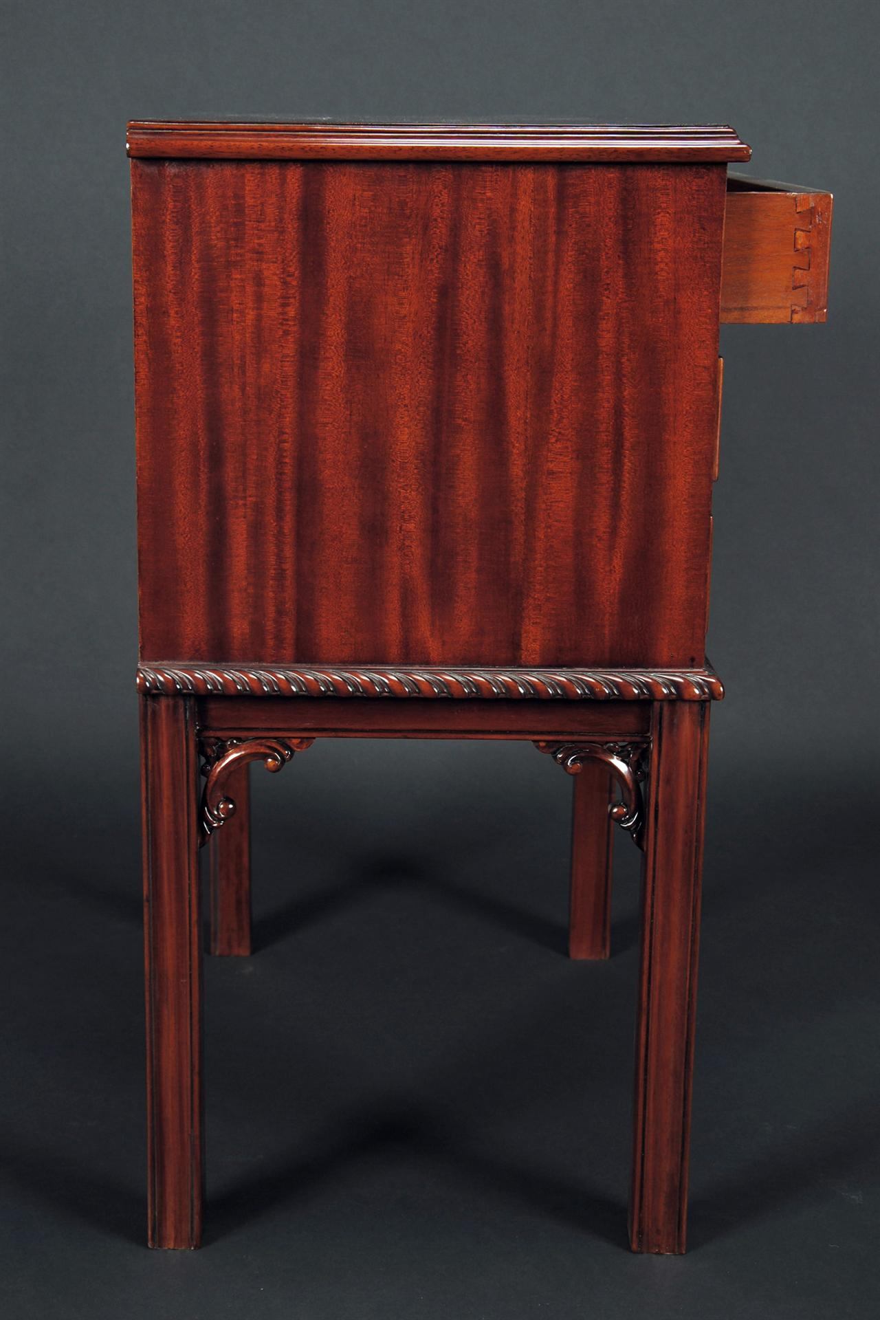 Mahogany Three Drawer Nightstand