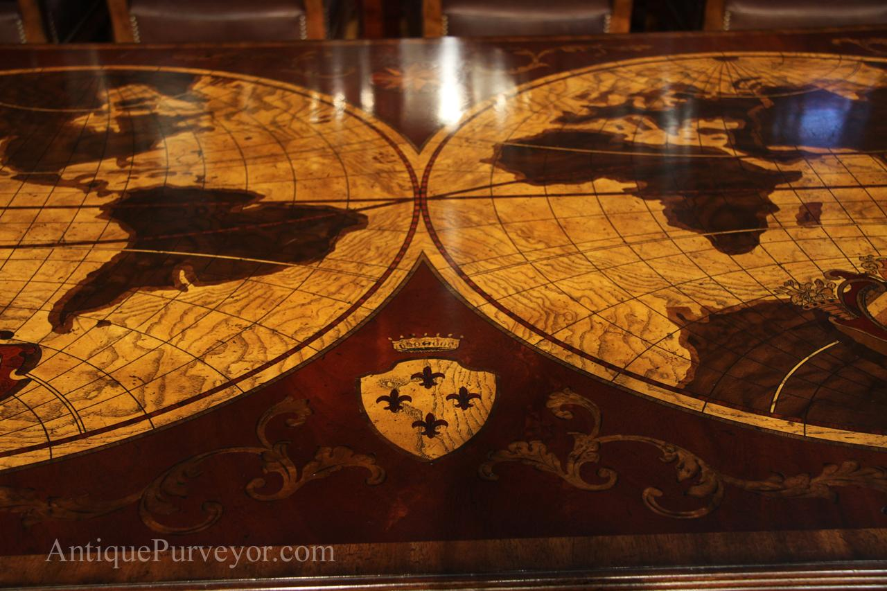 High end home office inlaid mahogany writing desk removable cap there are two of these access areas on top of desk gumiabroncs Choice Image