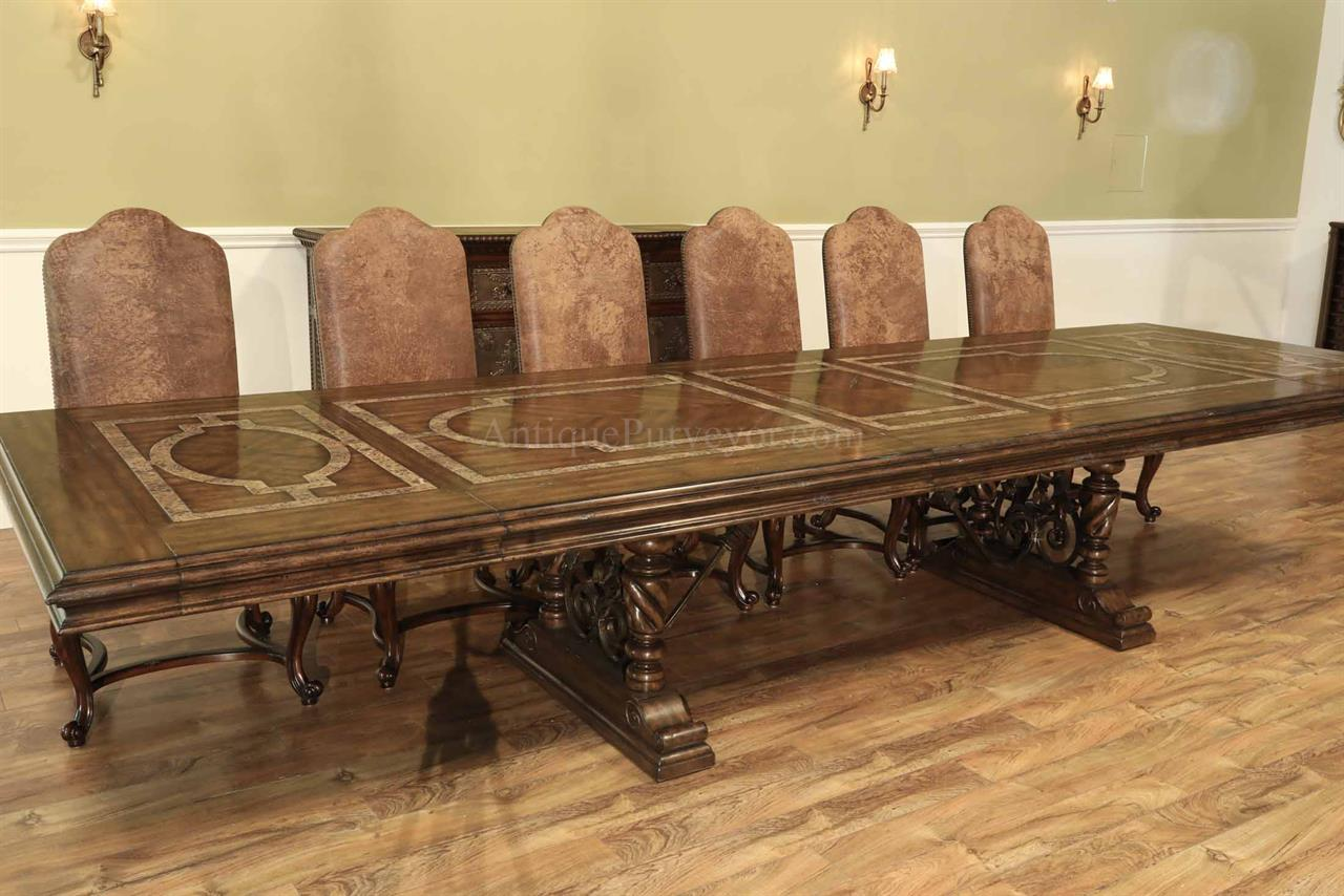 Tuscan Or Mediterranean Style Dining Table With Marble And