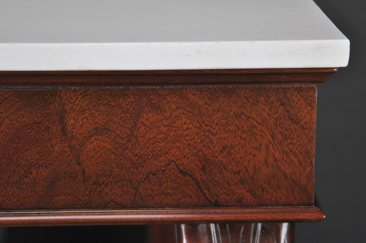 Antique Reproduction Victorian Marble Top Console Table