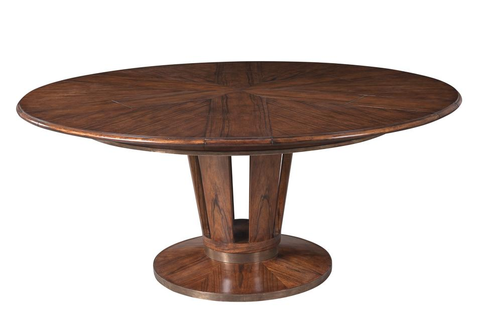 Modern round to round 54 to 70 inch round dining table for Contemporary round dining table