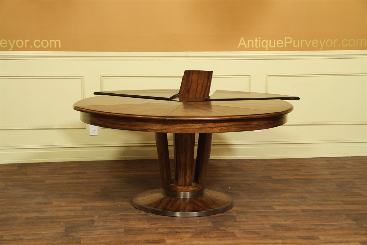 Contemporary Jupe Table, Large Modern Round Dining Table