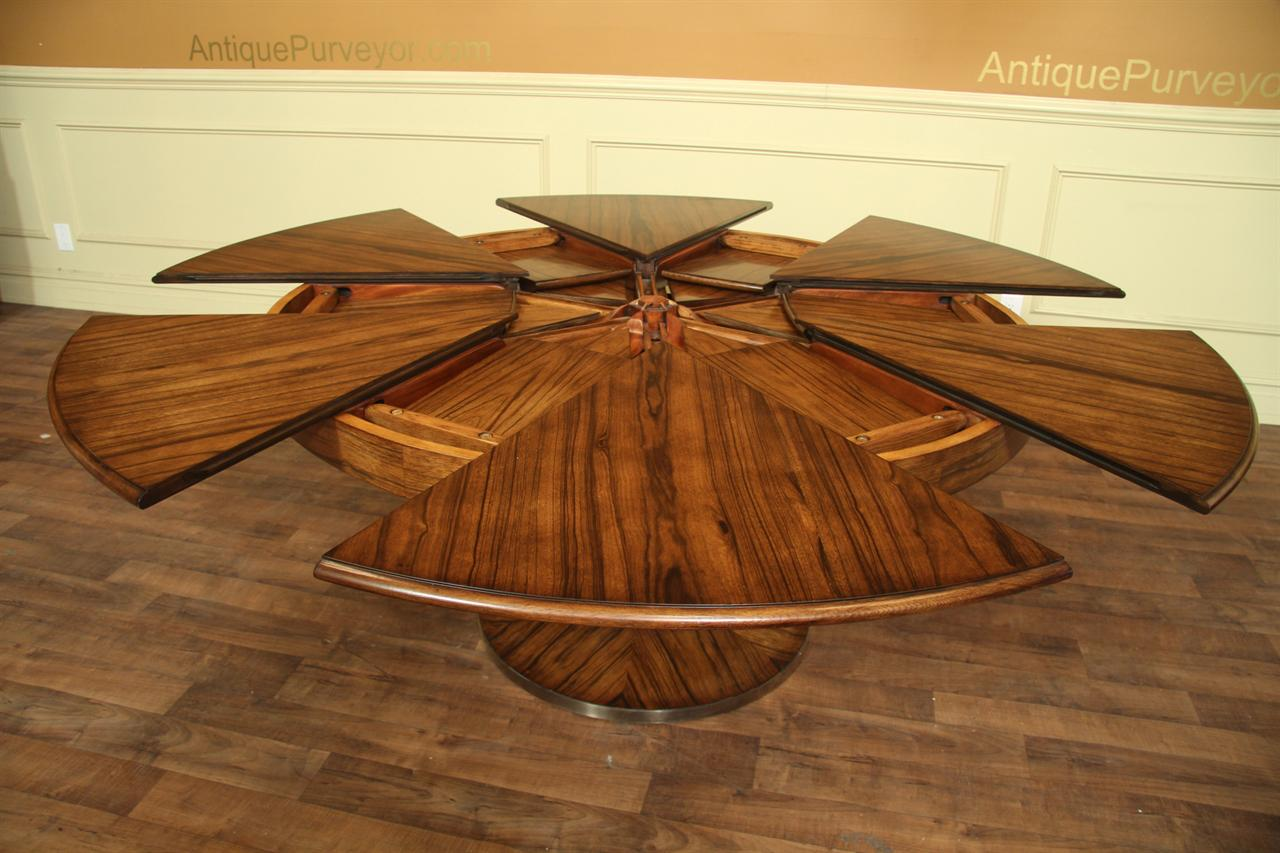 Contemporary Jupe Table Large Modern Round Dining Table  : modern round to round dining table with self storing leaves 14206 from www.ebay.com size 1280 x 853 jpeg 121kB