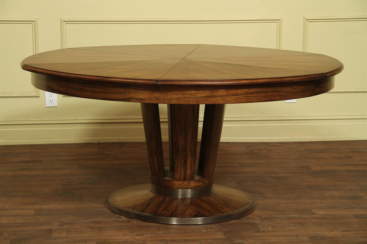 Contemporary jupe table large modern round dining table for Contemporary round dining table