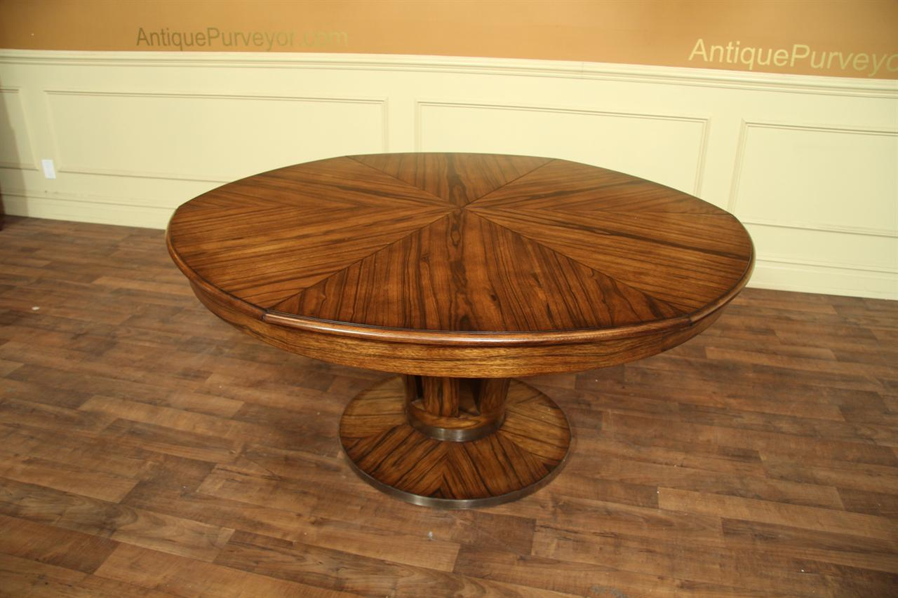 Contemporary jupe table large modern round dining table for Large round dining table with leaf