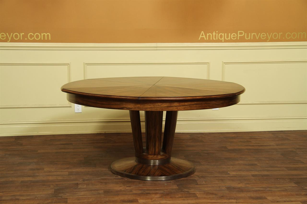 Contemporary Jupe Table Large Modern Round Dining Table Opens To 84 Ebay