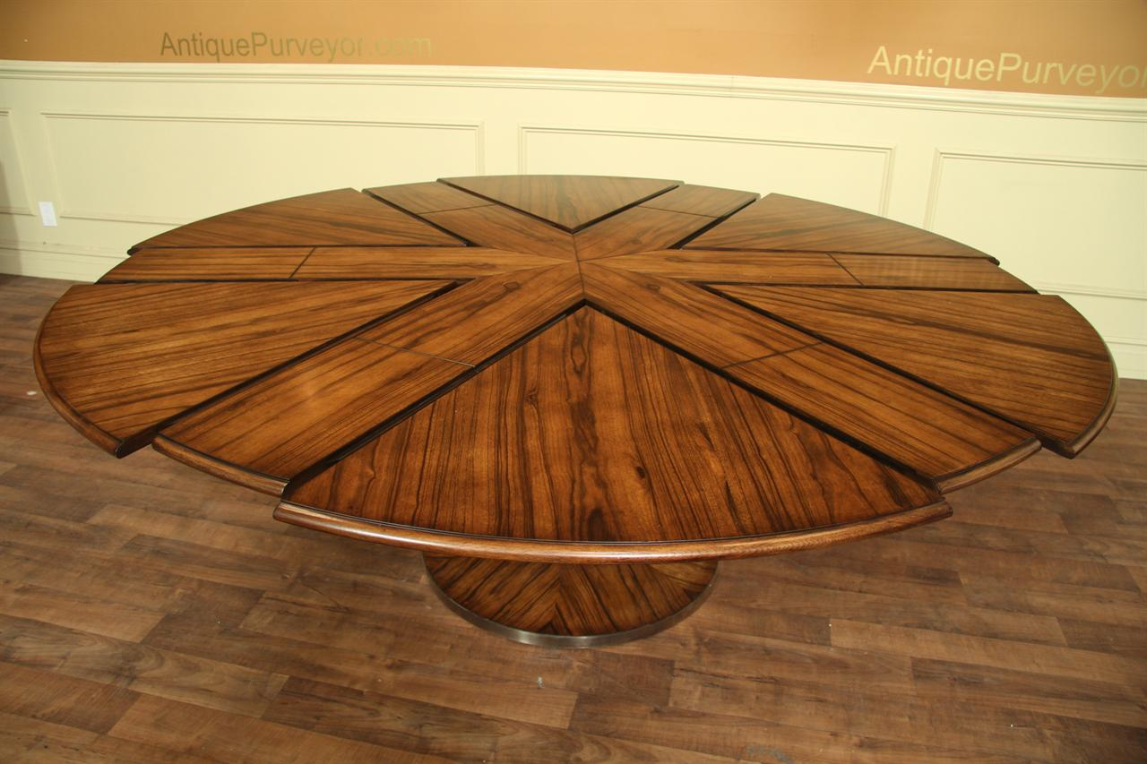 Contemporary Jupe Table Large Modern Round Dining Table  : modern round to round dining table with self storing leaves 14216 from www.ebay.ie size 1280 x 853 jpeg 122kB