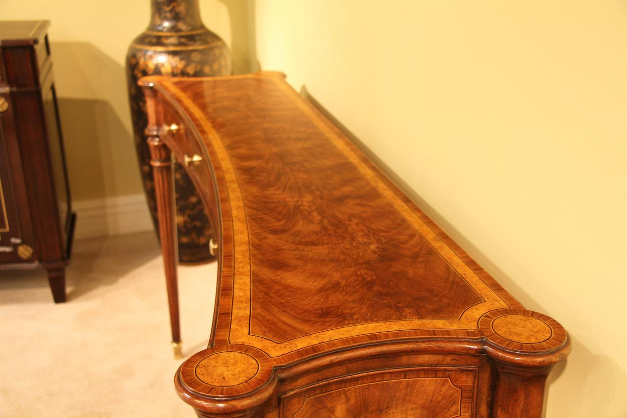 Yew Dining Room Furniture Narrow Walnut Console Table For Dining Room Or Foyer