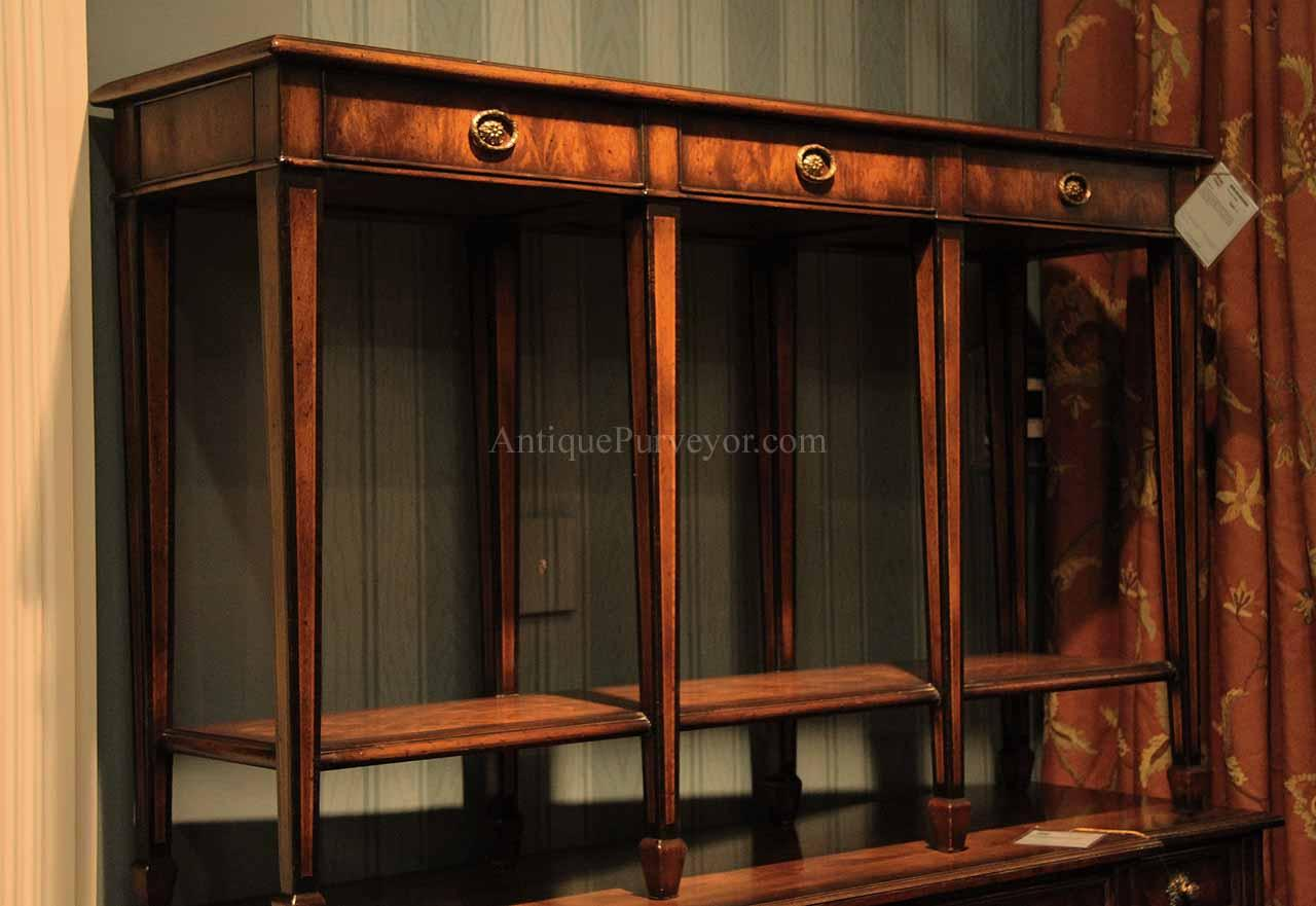 Narrow mahogany console table rosewood inlaid hallway table narrow mahogany and rosewood console table geotapseo Gallery