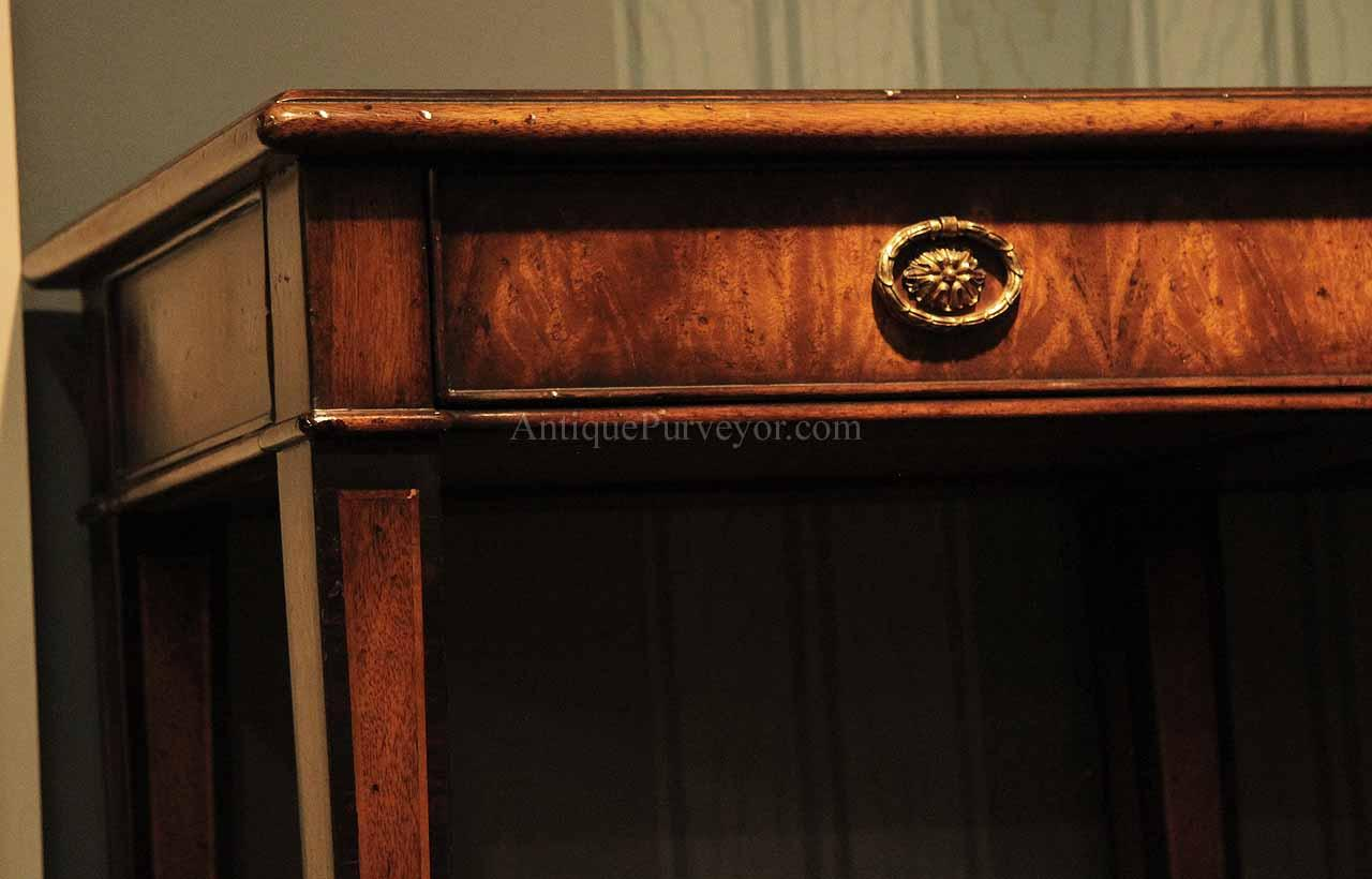 Narrow mahogany console table rosewood inlaid hallway table high end spade foot console table with drawers geotapseo Gallery