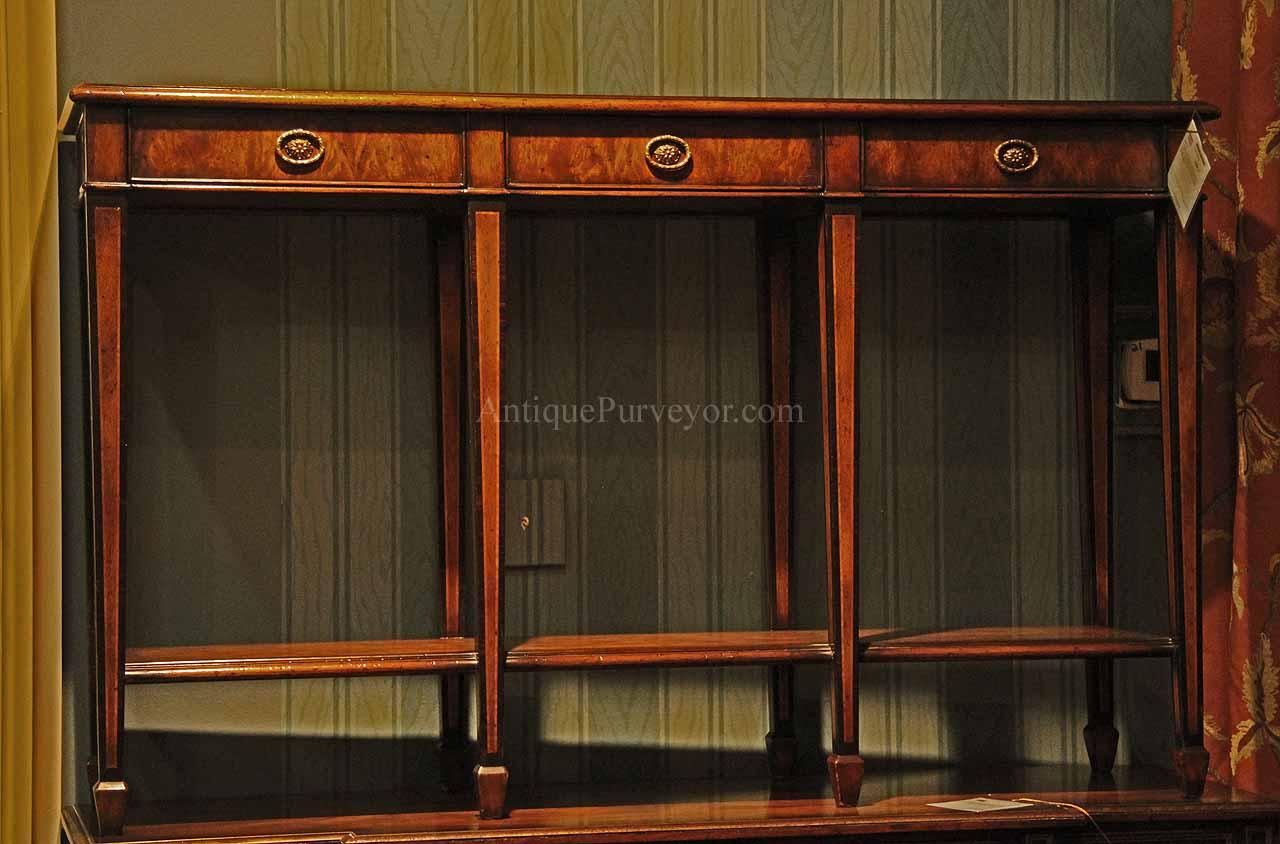 Charming High End Spade Foot Console Table With Drawers
