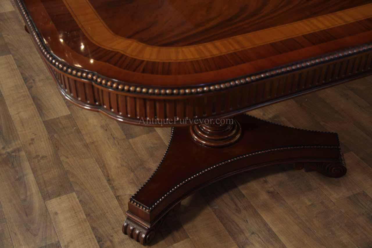 Formal Mahogany Dining Table With Leaves For 10 To 12 People