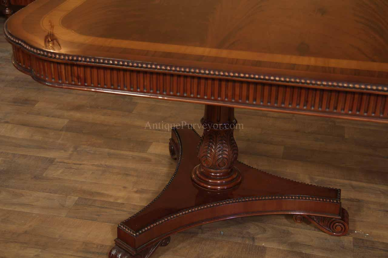 Delightful Regency Style Mahogany Pedestal Table