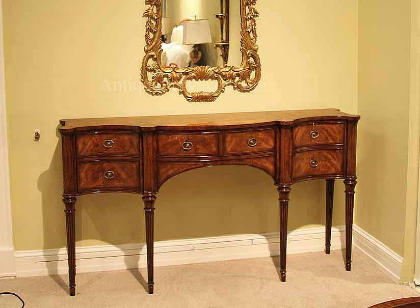 Sheraton Style mahogany sideboard or buffet - Narrow Mahogany Sideboard For Dining Room Great Console Table