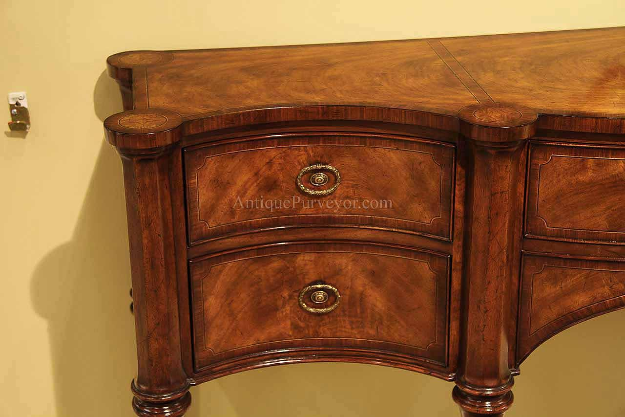 narrow traditional mahogany sideboard for dining room - Dining Room Consoles