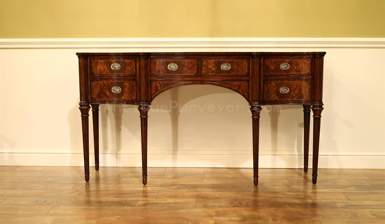 Narrow Traditional Mahogany Sideboard For Dining Room