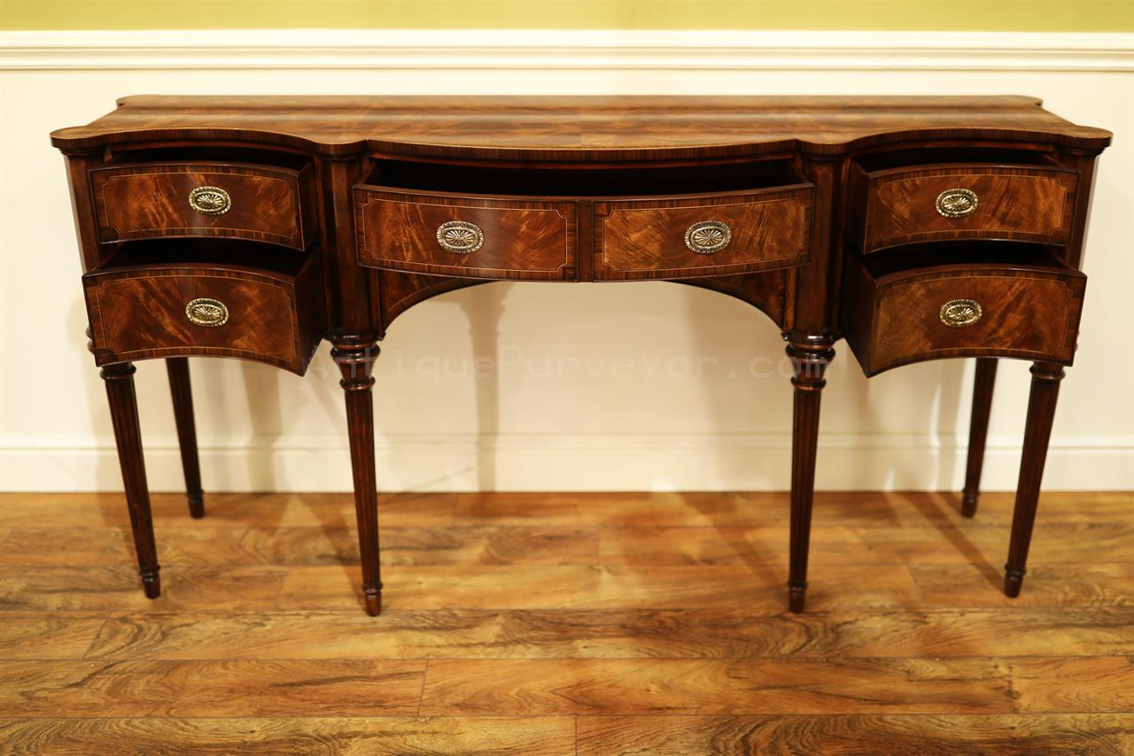Narrow mahogany sideboard for dining room great console table for Narrow dining room cabinet
