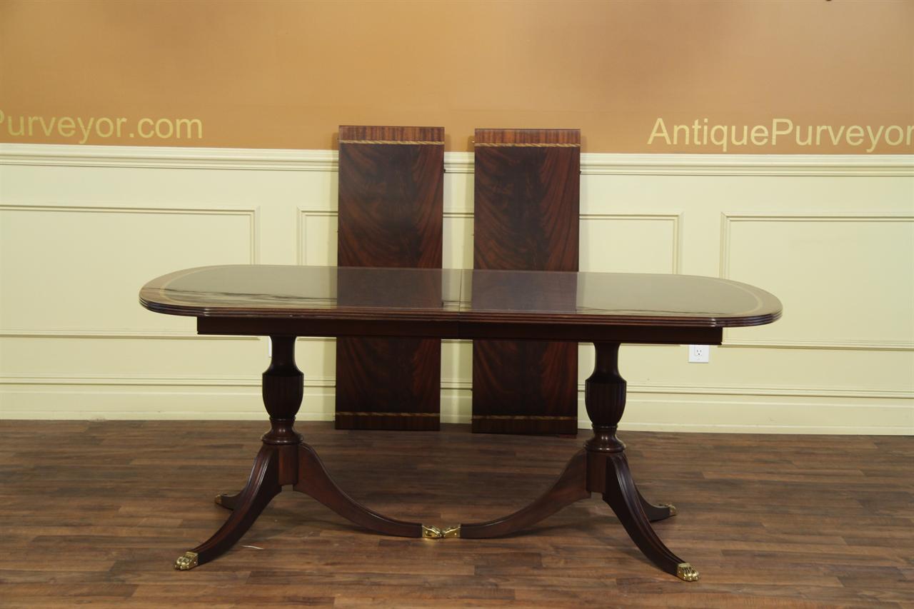 American Made Mahogany Dining Table Seats 10