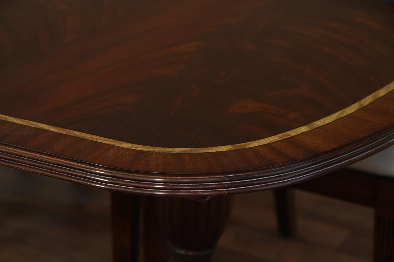 reproduction dining tables. high end mahogany dining table with satinwood banding reproduction tables