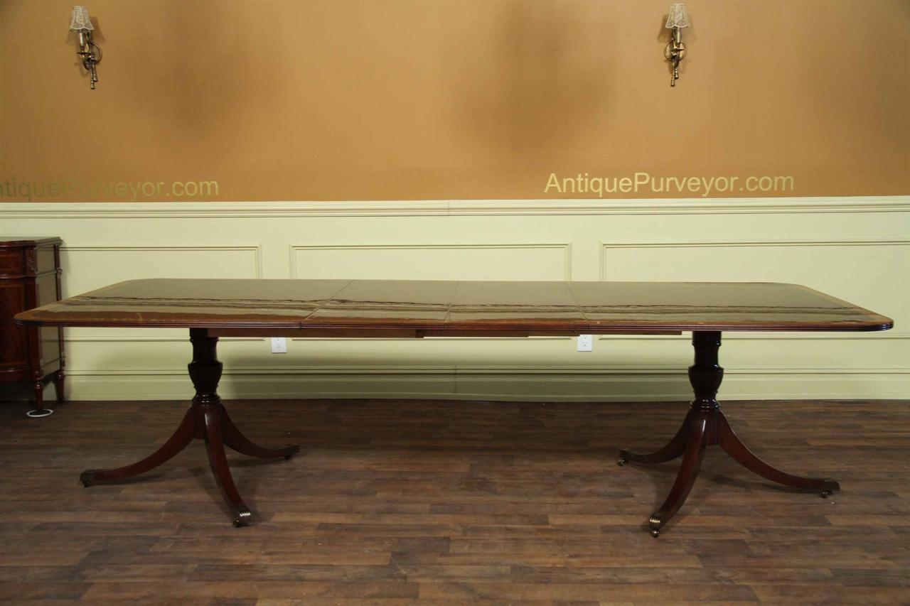 American made antique reproduction dining table seats 10